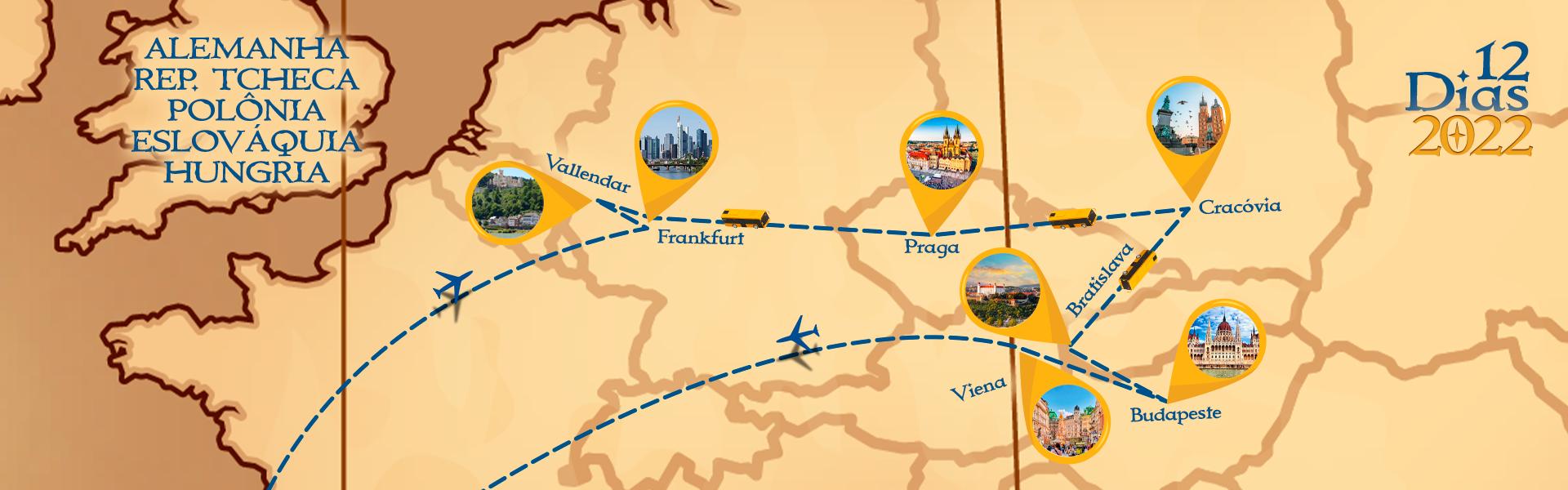 Roteiro de Alemanha, Rep. Tcheca, Polônia, Eslováquia e Hungria