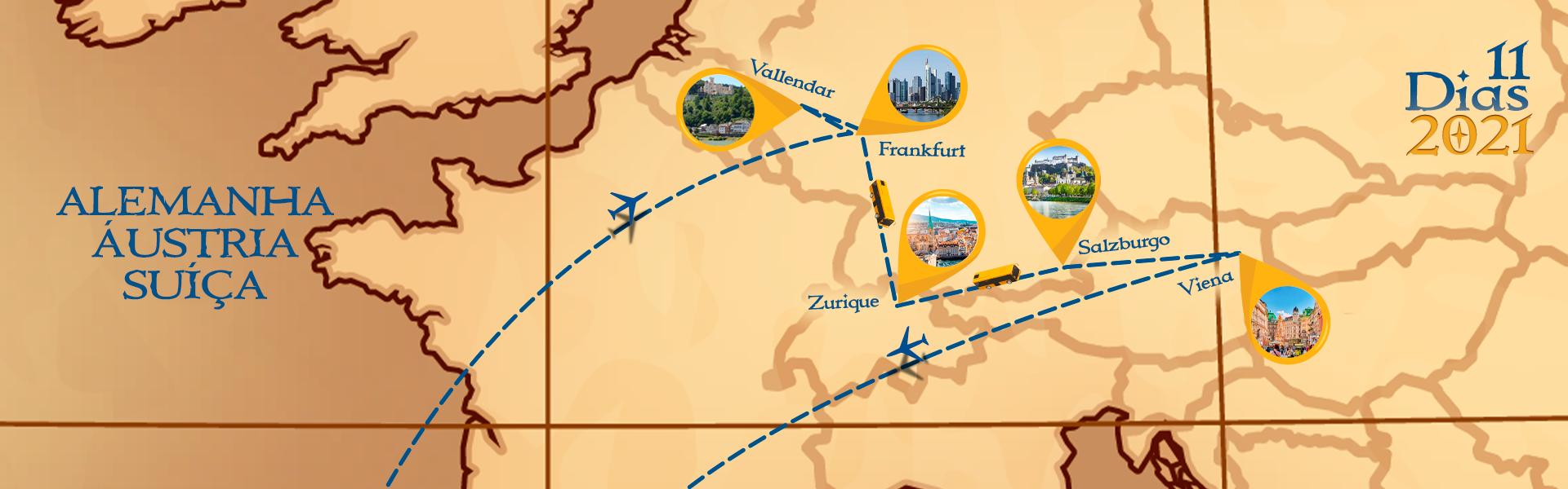 Roteiro de Alemanha, Suiça e Áustria