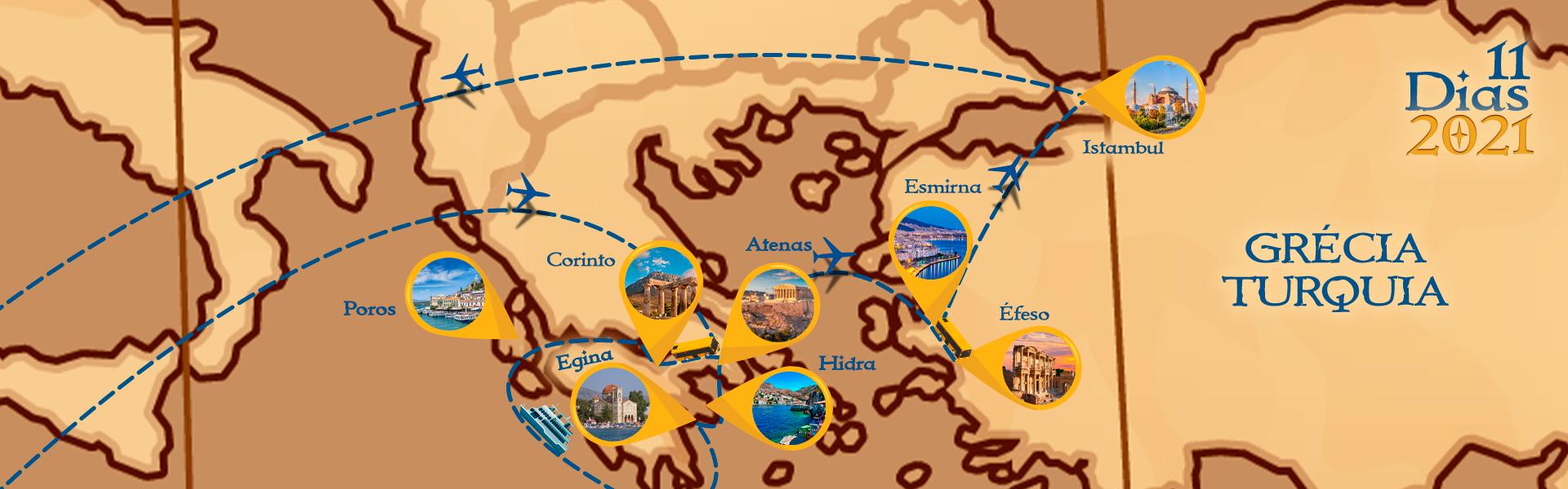 Roteiro de Grécia e Turquia