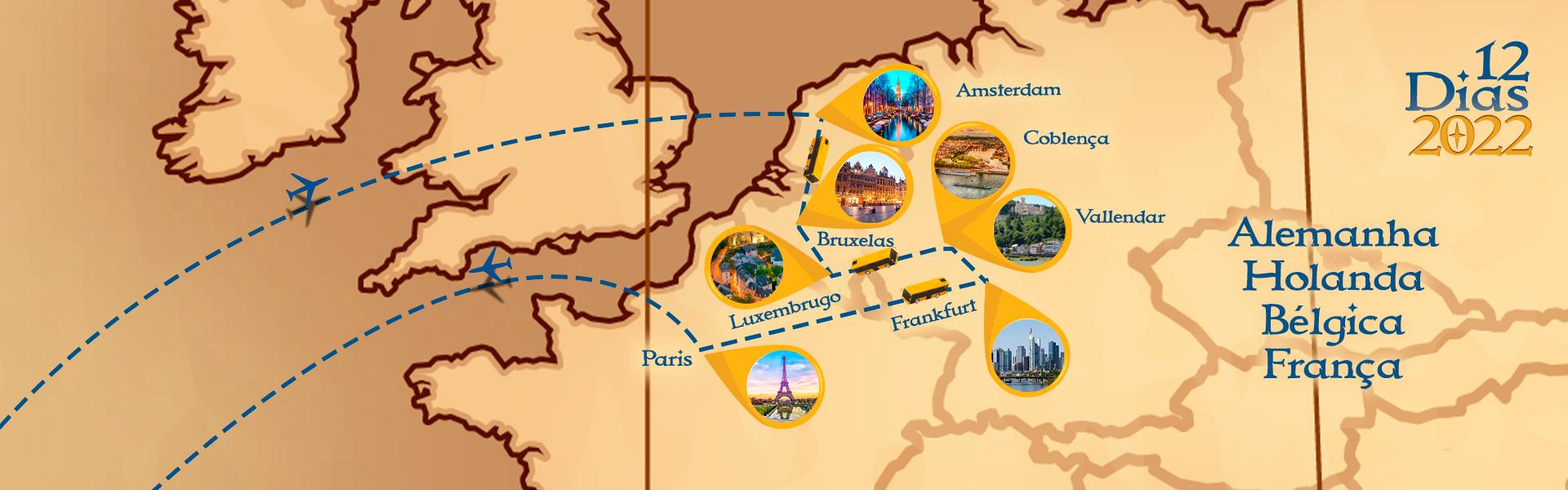Roteiro de Holanda, Bélgica, Alemanha e França