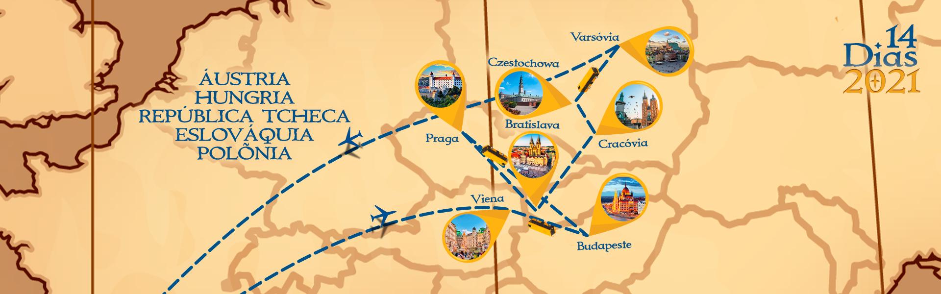 Roteiro de Áustria, Hungria, Rep. Tcheca, Eslováquia e Polônia
